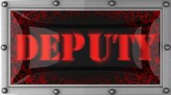 Deputy on led Stock Footage