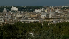 Rome landscape view from GIANICOLO Stock Footage