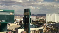 MGM Grand Hotel and Clouds Time Lapse in Vegas HD Stock Footage