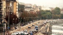 Stock Video Footage of Buda Wharf View Budapest Hungary 05 stylized artsoft filmlook