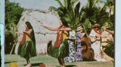 Hawaiian Women GIRL Hula Dancer Female Dancing 1960s Vintage Film Home Movie 611 Stock Footage