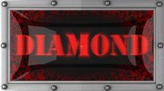 diamond on led - stock footage