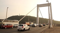 Elizabeth Bridge Traffic in Budapest Hungary 01 neutral Stock Footage