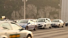 Elizabeth Bridge Traffic in Budapest Hungary 02 neutral Stock Footage