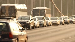 Elizabeth Bridge Traffic in Budapest Hungary 03 neutral Stock Footage