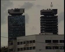 Sarajevo towers 2 Stock Footage