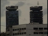 Stock Video Footage of Sarajevo towers 2