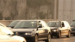 Elizabeth Bridge Traffic in Budapest Hungary 04 neutral Stock Footage