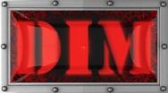 Dim on led Stock Footage