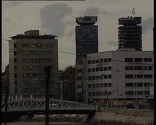 Sarajevo towers Stock Footage