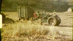 Farmer On in Field with Tractor Hay Harvest 1960s Vintage Film Home Movie 618 - stock footage