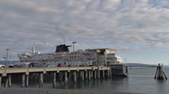 Loading the Ferry time lapse Stock Footage