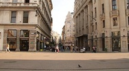 Stock Video Footage of European City Street  Budapest Hungary 01 neutral