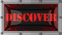 Stock Video Footage of discover on led