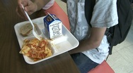 Stock Video Footage of Kids at school lunch (3 of 5)