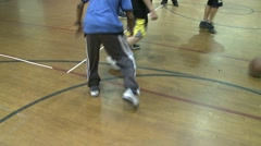 Basketball at gym (9 of 11) Stock Footage