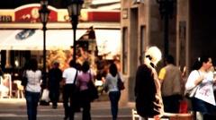European City Street  Budapest Hungary 17 stylized artsoft filmlook Stock Footage