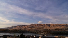 The Dalles Dam on the Columbia River Time Lapse Stock Footage
