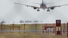 Stock Video Footage of Plane Landing