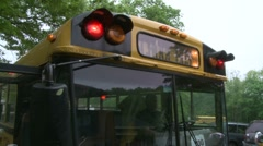 Bus hazard lights (2 of 2) - stock footage