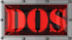 Dos on led Stock Footage