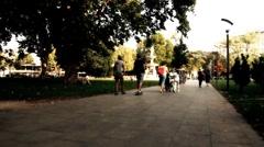 European City Street  Budapest Hungary 25 stylized artsoft filmlook - stock footage
