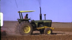 Farmer on Tractor Tilling AGRICULTURE Farm 1960s Vintage Film Home Movie 624 - stock footage