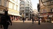Stock Video Footage of European City Street Budapest Hungary 05 neutral