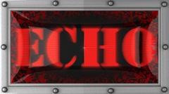 Echo on led Stock Footage