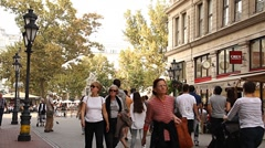 European City Street Budapest Hungary 08 neutral - stock footage