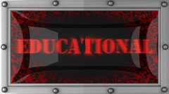 educational on led - stock footage