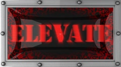Stock Video Footage of elevate on led