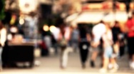Stock Video Footage of European City Street Defocus stylized artsoft filmlook