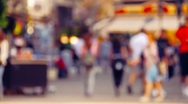 Stock Video Footage of European City Street Defocus stylized retro filmlook