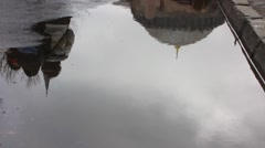 Turkey Istanbul old town Sultanahmet Hagia Sophia water reflection Stock Footage