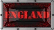 England on led Stock Footage
