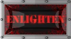 Enlighten on led Stock Footage
