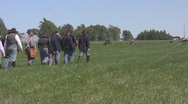 Stock Footage - union Cannon Battary march Stock Footage