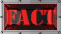 Fact on led Stock Footage