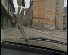 Bosnian streets (war time) - stock footage