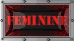 Stock Video Footage of feminine on led
