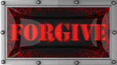 forgive on led - stock footage