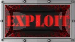 exploit on led - stock footage
