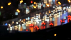 Traffic jam in the night city Stock Footage