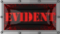 evident on led - stock footage