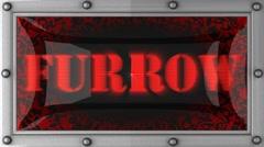 Furrow on led Stock Footage
