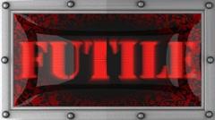 futile on led - stock footage