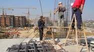 Construction workers Stock Footage