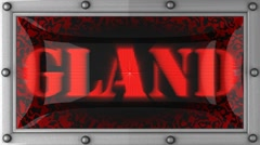 gland on led - stock footage