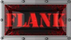 Flank on led Stock Footage